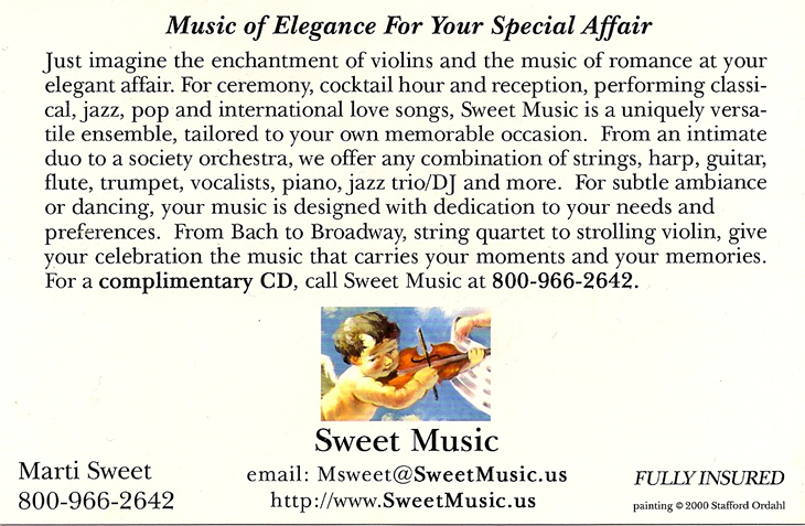 Sweet Music Card Back